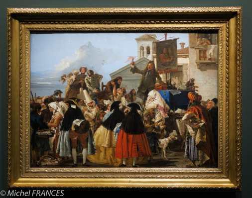 expo Éblouissante Venise - Giandomenico Tiepolo - L'arracheur de dents ou Le charlatan - 1754