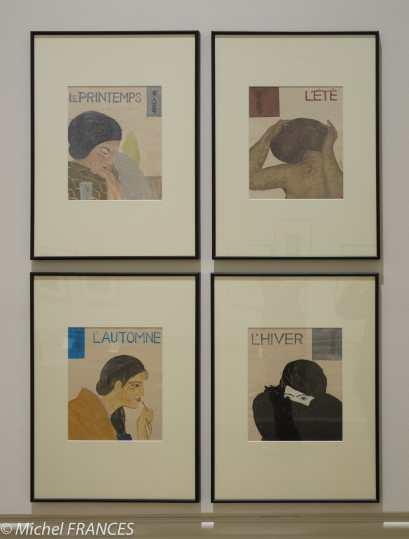 Onchi Koshiro - Série Belles femmes des quatre saisons - 1937
