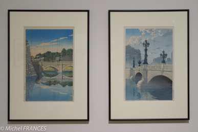Kawase Hasui - Vues du Tokaido - Nihonbashi (aube) - 1940 - Matin au pont Nijubashi - 1930