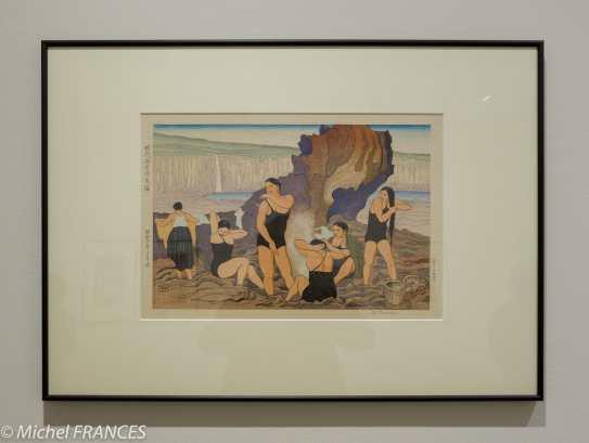 Tsuruta Goro - Pécheuses d'ormeaux d'aujourd'hui en train de se reposer - 1935