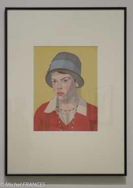 Hazama Inozuke - Jeune fille de la campagne du sud de la France - vers 1932