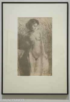Oda Kazuma - Femme nue debout - 1922