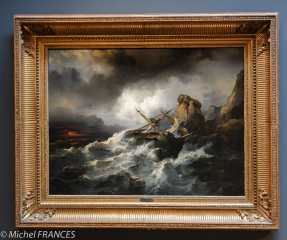 Musée beaux-arts de Brest - philippe Tanneur - Scène de naufrage - 1850