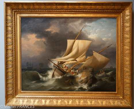 Musée beaux-arts de Brest - Louis-Philippe Crépin - Scène de naufrage - vers 1800