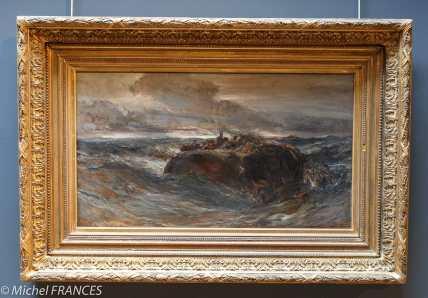 Musée beaux-arts de Brest - Eugène Isabey - Le naufrage de l'Émily - 1865
