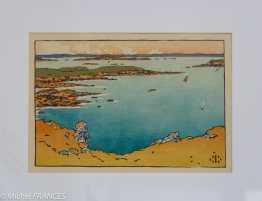 Musée beaux-arts de Brest - Henri Rivière - Pointe de la Haye vue de la Garde Guérin - 1890