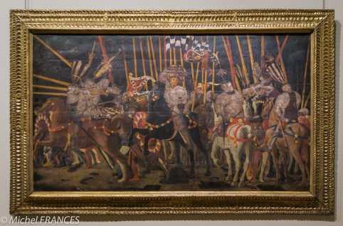 expo Collection Campana - Paolo di Dono dit Paolo Uccello - La bataille de San Romano : la contre-attaque de Micheletto Attendolo da Cotignola - bois de peuplier - vers 1438