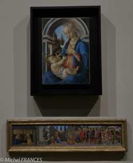 expo Collection Campana - Botticelli - La Vierge et l'Enfant - bois - vers 1467-1470 - Giovanne di Franco di Piero - L'adoration de l'Enfant et l'adoration des Mages - bois - 1460