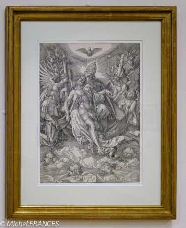 expo Gravure en clair-obscur - Albrecht Dürer - Trinité en trône de grâce - 1511 - gravure sur bois