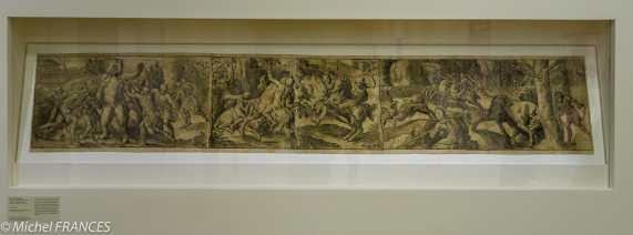 expo Gravure en clair-obscur - Joos Gietleughen d'après Frans Floris - Les chasses - 1555