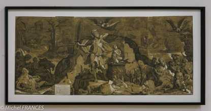 expo Gravure en clair-obscur - Andrea Andreani d'après Domenico Beccafumi - Le sacrifice d'Abraham - vers 1586