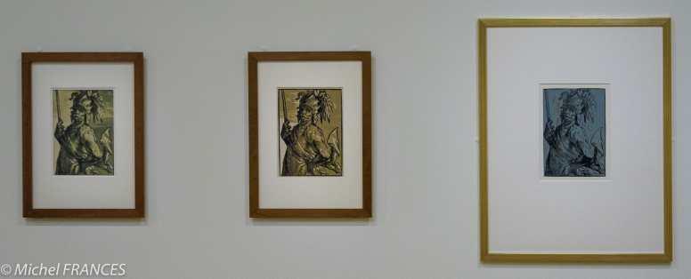 expo Gravure en clair-obscur - Hendrick Goltzius - Mars à mi-corps - vers 1588