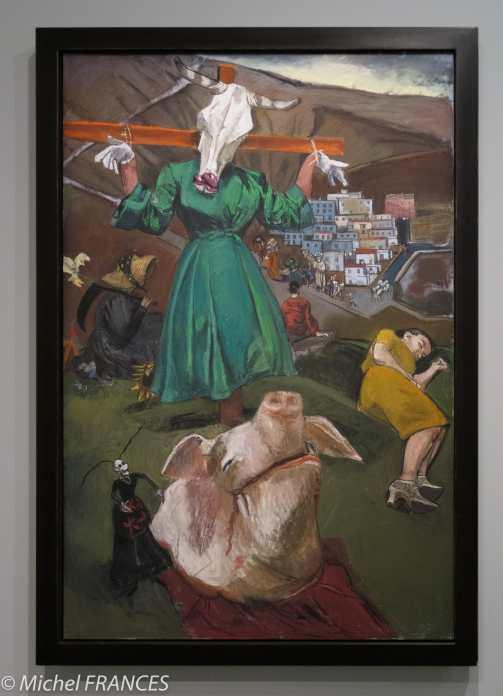 Orangerie - expo Paula Rego - L'épouvantail et le porc - 2005