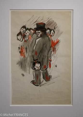 musée d'Orsay, exposition Picasso rose et bleu - Le coupeur de têtes - 1901