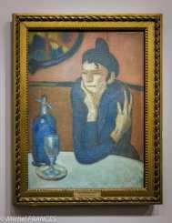 musée d'Orsay, exposition Picasso rose et bleu - La buveuse d'absinthe - 1901