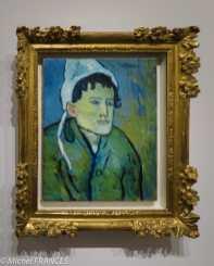 musée d'Orsay, exposition Picasso rose et bleu - femme au bonnet - 1901