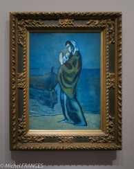 musée d'Orsay, exposition Picasso rose et bleu - Femme et enfant au bord de la mer - 1902