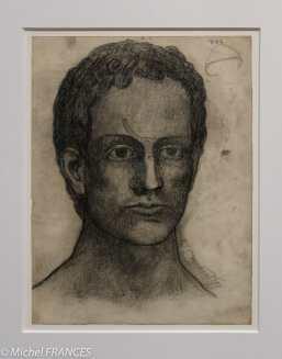 musée d'Orsay, exposition Picasso rose et bleu - portrait d'homme - 1902