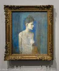 musée d'Orsay, exposition Picasso rose et bleu - Femme en chemise (Madeleine) - 1906