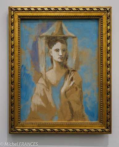 musée d'Orsay, exposition Picasso rose et bleu - femme de l'île de Majorque - 1905