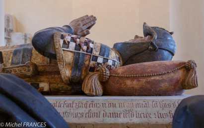 Le gisant de Philippe Pot après la restauration