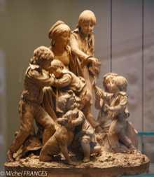 Louis Delaville - Les arrière-petits-enfants du peintre François Boucher jouant à la main chaude - 1799