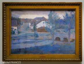 exposition Fernand Khnopff - À Fosset. L'entrée du village - 1885