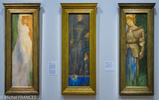 exposition Fernand Khnopff - L'isolement - Acrasia, Solitude, Britomart - 1897