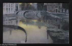 exposition Fernand Khnopff - Souvenir de Bruges . L'entrée du béguinage - 1904