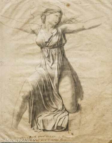 Fondation Custodia - expo 500 dessins musée Pouchkine - Jacques-Louis David - Étude pour la figure d'Hersilie, les Sabines - fin 1796
