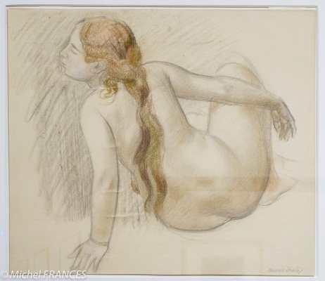 Fondation Custodia - expo 500 dessins musée Pouchkine - Maurice Denis - Nu féminin - vers 1900