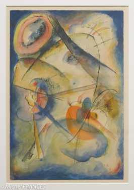 Fondation Custodia - expo 500 dessins musée Pouchkine - Vassily Kandinsky - Composition 3 (Z) - 1915