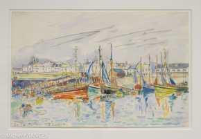 Fondation Custodia - expo 500 dessins musée Pouchkine - Paul Signac - La Turballe - 1930
