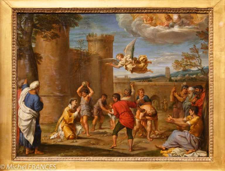 exposition Graver pour le Roi - Annibal Carrache - La lapidation de saint Étienne - huile sur cuivre - vers 1600-1610