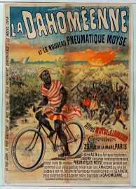 Titre : La Dahoméenne et le nouveau pneumatique Moyse... : [affiche] / [non identifié] Éditeur : [s.n.][s.n.] Éditeur : [impr. Charles Verneau] ([Paris]) Date d'édition : 1895 Sujet : Bicyclettes -- Publicité Sujet : Cycles et motocycles Type : image fixe Type : estampe Langue : français Format : 1 est. : lithogr. en coul. ; 140 x 100 cm Format : image/jpeg Format : Nombre total de vues : 1 Description : Affiche Droits : domaine public Identifiant : ark:/12148/btv1b9012809p Source : Bibliothèque nationale de France, ENT DN-1 (VERNEAU,Charles/4)-ROUL Notice du catalogue : http://catalogue.bnf.fr/ark:/12148/cb39841185j Provenance : Bibliothèque nationale de France Date de mise en ligne : 30/04/2011