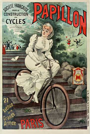 Titre : Société... française... pour la construction de cycles Papillon : [affiche] / [A. Bonnard] Auteur : Bonnard, A. (18..-18.. ; dessinateur). Illustrateur Éditeur : [s.n.][s.n.] Éditeur : [Impr. H. Laas] ([Paris]) Date d'édition : 1890 Sujet : Bicyclettes -- Publicité Sujet : Cycles et motocycles Type : image fixe Type : estampe Langue : français Format : 1 est. : lithogr. en coul. ; 119 x 78 cm Format : image/jpeg Format : Nombre total de vues : 1 Description : Affiche Droits : domaine public Identifiant : ark:/12148/btv1b9013170h Source : Bibliothèque nationale de France, département Estampes et photographie, ENT IF-1 (1)-ROUL Notice d'ensemble : http://catalogue.bnf.fr/ark:/12148/cb39835427z Provenance : Bibliothèque nationale de France Date de mise en ligne : 30/04/2011
