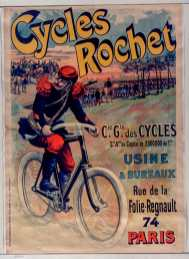 Titre : Cycles Rochet : [affiche] / [non identifié] Éditeur : [s.n.][s.n.] Éditeur : [Chaix (Ateliers Chéret)] ([Paris]) Date d'édition : 1896 Sujet : Bicyclettes -- Publicité Sujet : Cycles et motocycles Type : image fixe Type : estampe Langue : français Format : 1 est. : lithogr. en coul. ; 122 x 86 cm Format : image/jpeg Format : Nombre total de vues : 1 Description : Affiche Droits : domaine public Identifiant : ark:/12148/btv1b9015105j Source : Bibliothèque nationale de France, ENT DN-1 (CHAIX/2)-ROUL Notice du catalogue : http://catalogue.bnf.fr/ark:/12148/cb398361021 Provenance : Bibliothèque nationale de France Date de mise en ligne : 30/04/2011