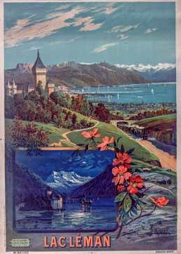 Lac Léman : [tableaux scolaires] - Hugo d'Alési, F. (1849-1906). Illustrateur - Provenance : Bibliothèque nationale de France