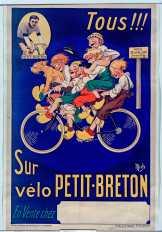 Tous !!! sur vélo Petit-Breton - Illustrateur : Mich (1881-1923) - Éditeur : Publicité Wall (Paris) - Date d'édition : 1921 - Provenance : BNF