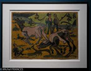 MAD - expo Drôles de petites bêtes d'Antoon Krings - ernst Ludwig Kirchner - Vaches au printemps - 1933