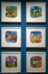 MAD - expo Drôles de petites bêtes d'Antoon Krings - Siméon le papillon, Belle la coccinelle, Mireille l'abeille, Camille la chenille, Margot l'excargot, Léon le bourdon - 1994-1995 -