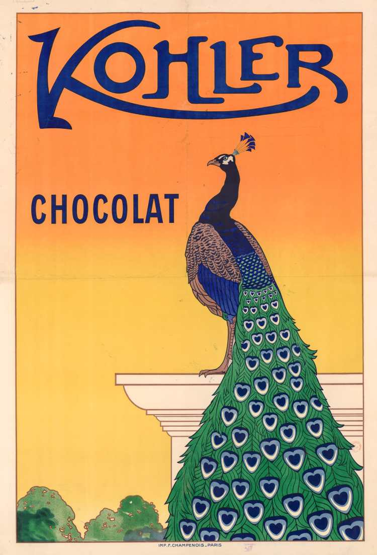 Titre :      Kohler Chocolat : [affiche]  Éditeur :      [s.n.][s.n.]  Éditeur :      Imp. F. Champenois (Paris)  Date d'édition :      1914  Sujet :      Alimentation  Type :      image fixe  Type :      estampe  Langue :      français  Format :      1 est. : lithographie en coul. ; 150 x 106 cm  Format :      image/jpeg  Format :      Nombre total de vues : 1  Description :      Affiche  Droits :      domaine public  Identifiant :      ark:/12148/btv1b531591763  Source :      Bibliothèque nationale de France, département Estampes et photographie, GRAND ROUL-ENT DP-121  Notice du catalogue :      http://catalogue.bnf.fr/ark:/12148/cb45238551b  Provenance :      Bibliothèque nationale de France  Date de mise en ligne :      11/03/2018