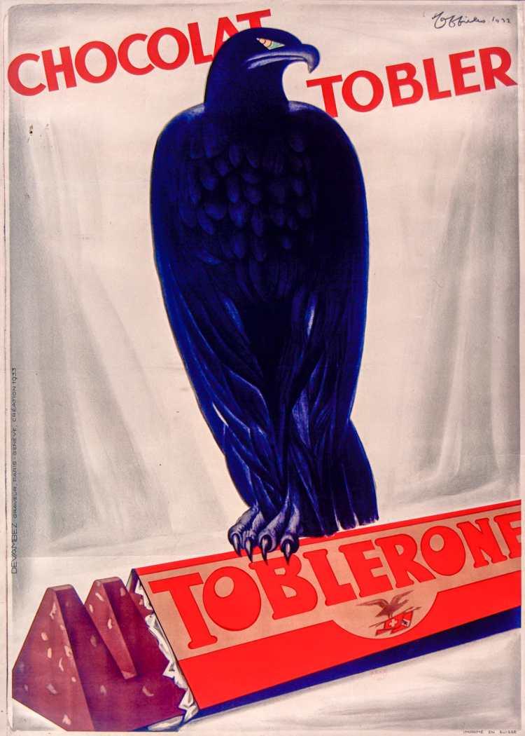 Titre :      Chocolat Tobler Toblerone : [affiche] / [Leonetto Cappiello]  Auteur :      Cappiello, Leonetto (1875-1942). Illustrateur  Éditeur :      [s.n.][s.n.]  Éditeur :      [impr. Devambez] ([Paris])  Date d'édition :      1932  Sujet :      Alimentation  Type :      image fixe  Type :      estampe  Langue :      français  Format :      1 est. : lithogr. en coul. ; 120 x 92 cm  Format :      image/jpeg  Format :      Nombre total de vues : 1  Description :      Affiche  Droits :      domaine public  Identifiant :      ark:/12148/btv1b90150768  Source :      Bibliothèque nationale de France, ENT DN-1 (CAPPIELLO,Leonetto/10)-ROUL  Notice du catalogue :      http://catalogue.bnf.fr/ark:/12148/cb39835726f  Provenance :      Bibliothèque nationale de France  Date de mise en ligne :      30/04/2011