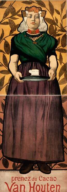 Titre : Prenez du cacao Van Houten : [affiche] / A. Willette Auteur : Willette, Adolphe (1857-1926). Illustrateur Éditeur : [s.n.][s.n.] Éditeur : Litho Belfond & Cie 10 rue Gaillon (Paris) Date d'édition : 1893 Sujet : Chocolat Sujet : Alimentation Sujet : Boissons Type : image fixe Type : estampe Langue : français Format : 1 est. : lithographie, en coul. ; 190 x 70 cm Format : image/jpeg Format : Nombre total de vues : 1 Description : Affiche Droits : domaine public Identifiant : ark:/12148/btv1b90174501 Source : Bibliothèque nationale de France, ENT DN-1 (WILLETTE,AdolpheLéon)-FT6 Notice du catalogue : http://catalogue.bnf.fr/ark:/12148/cb40565405m Provenance : Bibliothèque nationale de France Date de mise en ligne : 16/05/2011