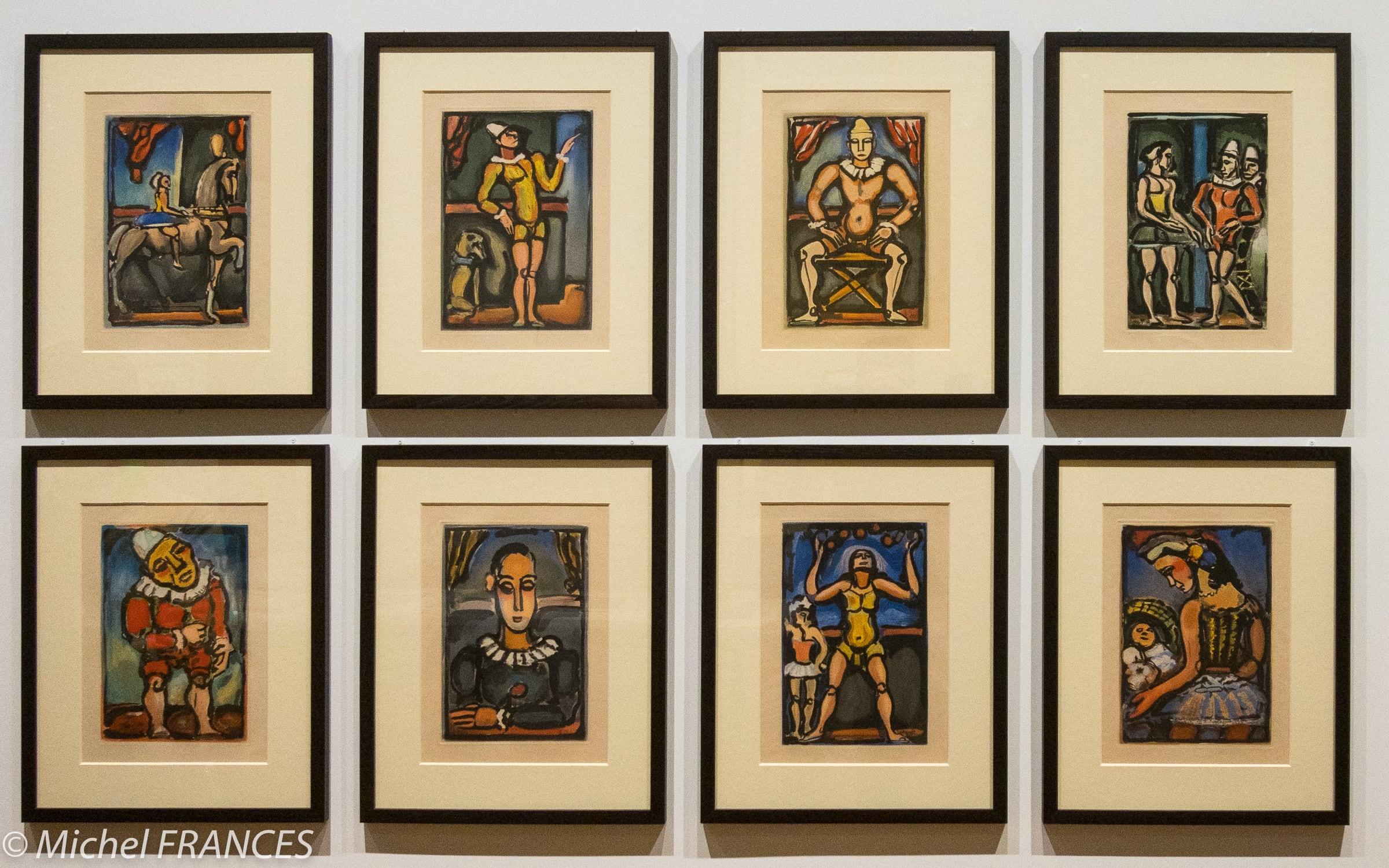 Exposition Édition Limitée Vollard, Petiet et l'estampe de maîtres – Georges Rouault – Hors-textes extraits de Cirque de l'étoile filante – 1935