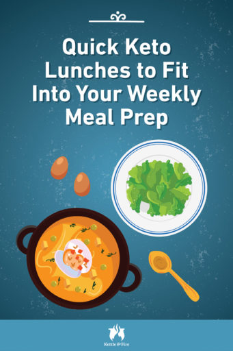 Quick Keto Lunches to Fit Into Your Weekly Meal Prep pin