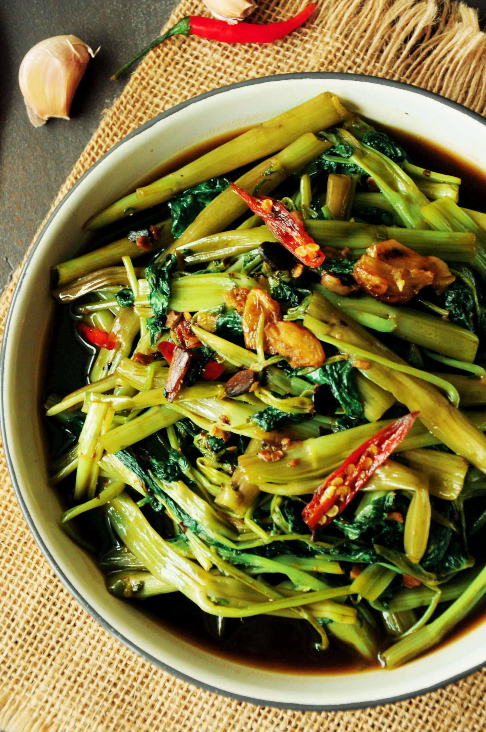 Morning Glory Vegetable : morning, glory, vegetable, Stir-Fried, Water, Spinach, Recipe, (Morning, Glory)