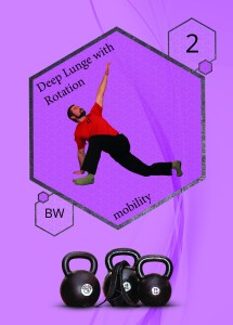 Position2: Ausfallschritt mit Rotation