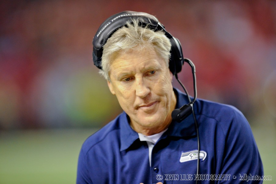 Seahawks head coach Pete Carroll during the fourth quarter.