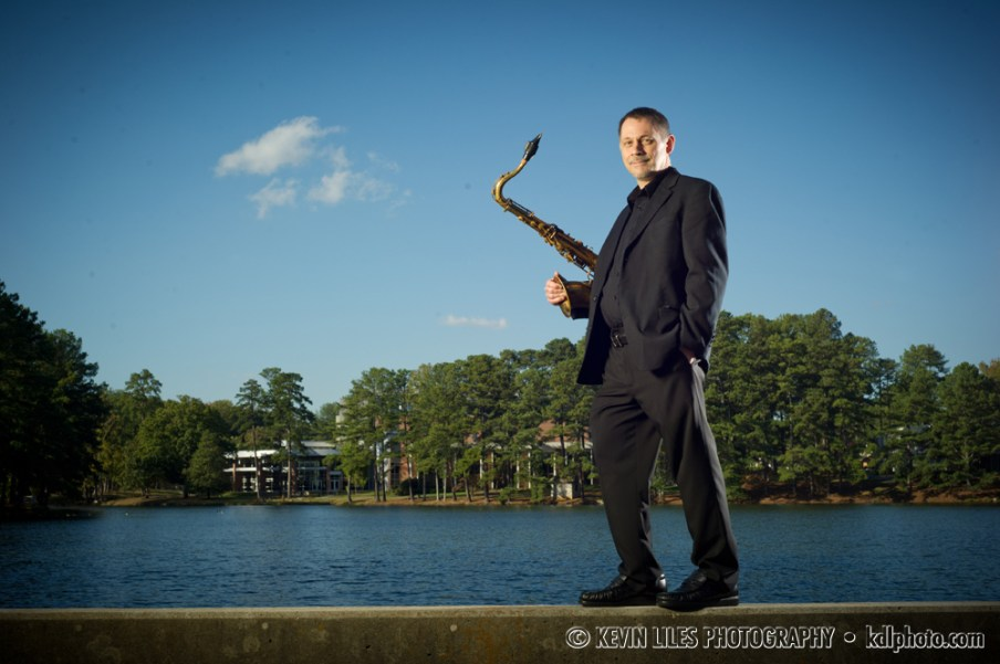 Portrait of Clayton State University jazz band director Stacey Houghton.